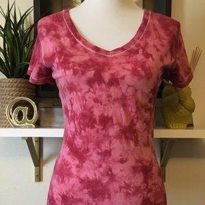 BKE S tie dye v neck T-shirt